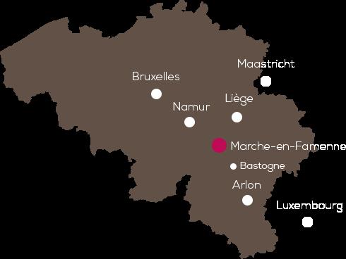 Le Quartier Latin à Marche-en-Famenne, près de Durbuy, Ardennes